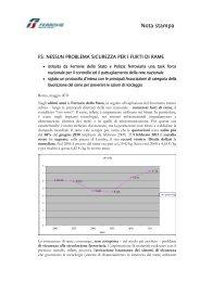 Nessun problema sicurezza per i furti di rame (.pdf 126 KB) - FSNews