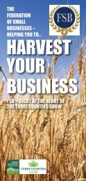 HARVEST YOUR BUSINESS - Federation of Small Businesses