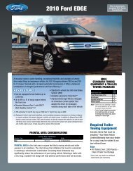 Ford 2010 Edge Towing Guide