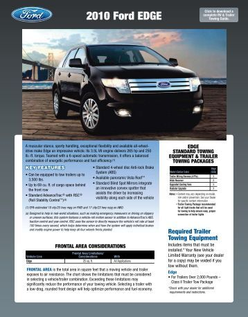 ford edge towing capacity chart autos post. Black Bedroom Furniture Sets. Home Design Ideas