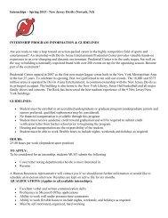 Internships – Spring 2013 - New Jersey Devils (Newark, NJ ...