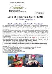 Drop-Shot-Kurs am Sa.18.12.2010 - BIG FISH Angelmarkt Pforzheim