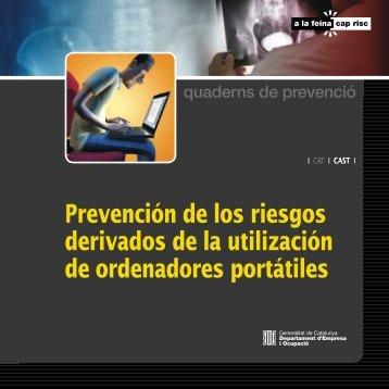 Prevención de los riesgos derivados de la utilización de ...