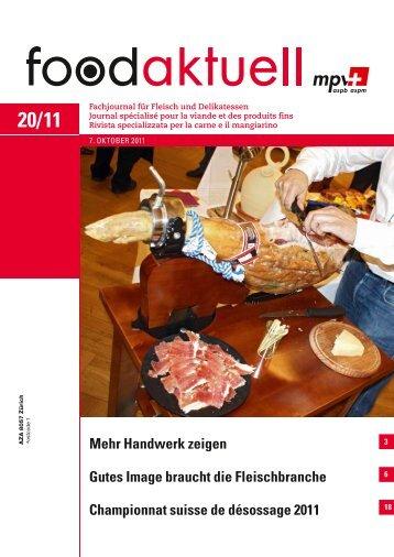 Gutes Image braucht die Fleischbranche ... - Foodaktuell.ch