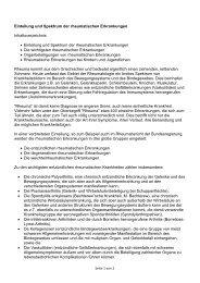 Einteilung und Spektrum der rheumatischen Erkrankungen ...