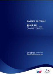 DOSSIER DE PRESSE GRAND SKI - Maison de la France