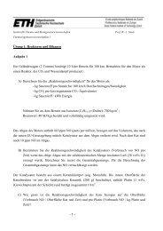 - 1 - Übung 1: Reaktoren und Bilanzen Aufgabe 1 Ein ...
