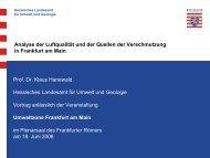 Analyse Luftqualität - Hanewald (HLUG) (pdf ... - Frankfurt am Main