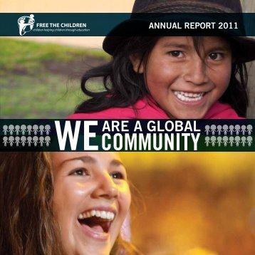 AnnUAl RepORt 2011 - Free The Children