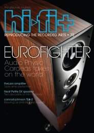 Hifi+ review issue 70 EUROFIGHTER - Audio Physic Cardeas