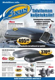 Talviloman kuljetuksiin! - Fixus