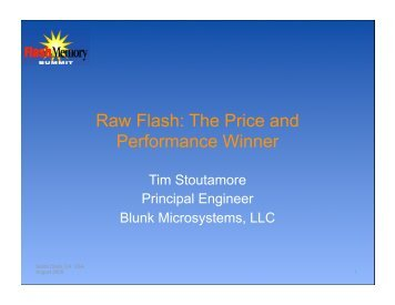 Raw Flash - Flash Memory Summit