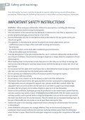 User maintenance instructions - Designer Appliances - Page 6