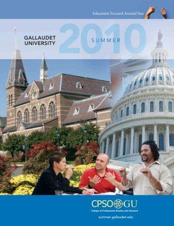 2010 Summer Catalog - Gallaudet University