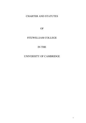 on the College website here (PDF) - Fitzwilliam College - University ...