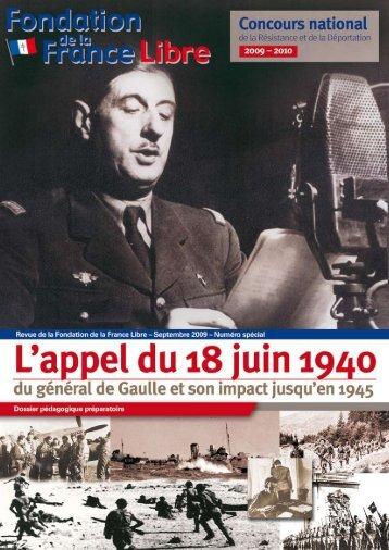 brochure en ligne - Fondation de la France Libre