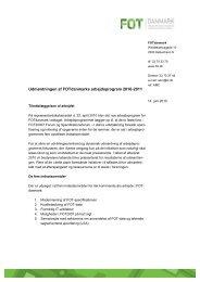 Udmøntning af arbejdsprogram 2010-2011 - FOTdanmark