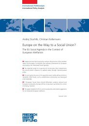 Europe on the way to a social union? - Bibliothek der Friedrich ...