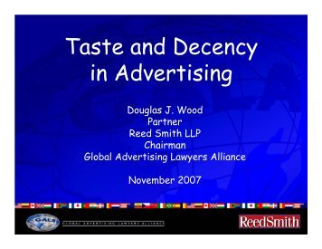 Taste and Decency in Advertising - GALA