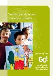 Jaarverslag 2008 - GO! onderwijs van de Vlaamse Gemeenschap