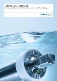 Drum motor for pool cover Flyer - Framo Morat