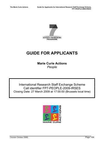 FP7-PEOPLE-2009-IRSES - FFG 7. Rahmenprogramm