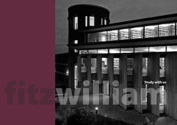 download the course booklet as a PDF - Fitzwilliam College