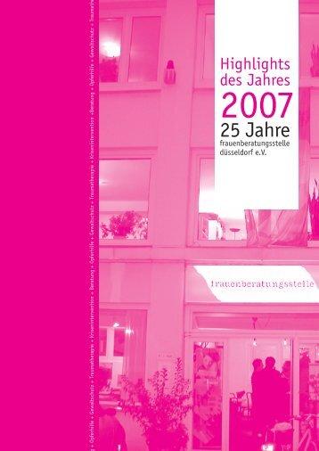 25 Jahre - Frauenberatungsstelle Düsseldorf
