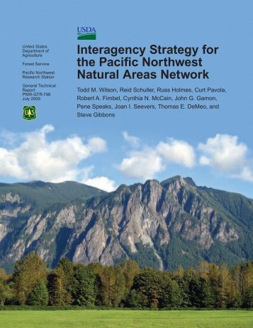 Interagency Strategy for the Pacific Northwest Natural Areas Network