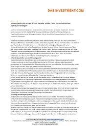 das investment.com - FONDS InvestBeratung - Petersen & Lange KG