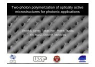 Two-photon polymerization of optically active microstructures ... - USP