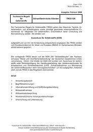 TRGS 528 - Gewerbeaufsicht - Baden-Württemberg