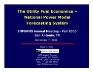 The Utility Fuel Economics – National Power Model ... - Gams
