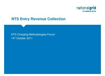 NTS Entry Revenue Collection
