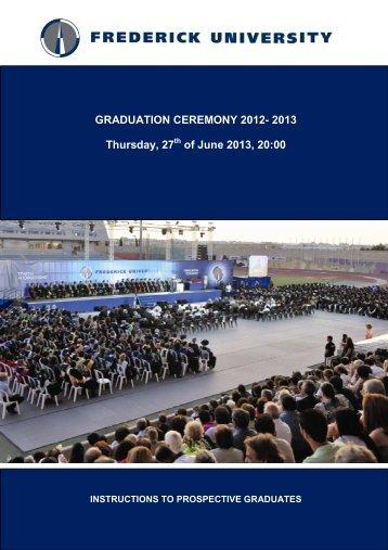 of June 2013, 20:00 - Frederick University