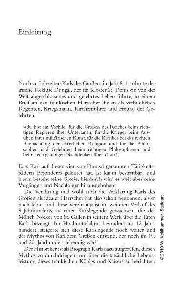 Karl der Große - Kohlhammer