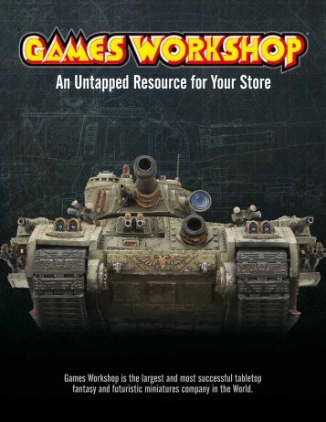 An Untapped Resource for Your Store - Games Workshop