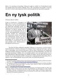 En ny tysk politik - Det danske Fredsakademi