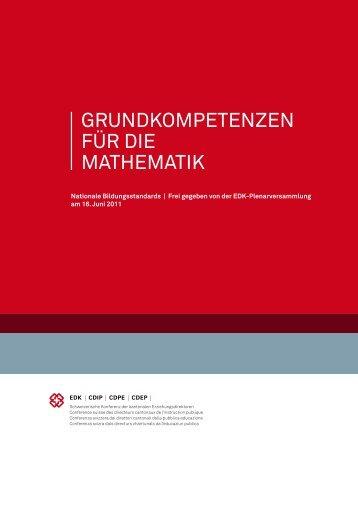 GRUNDKOMPETENZEN FÜR DIE MATHEMATIK - Forum Bildung