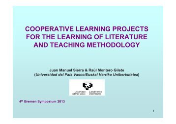 COOPERATIVE LEARNING PROJECTS FOR THE LEARNING OF ...