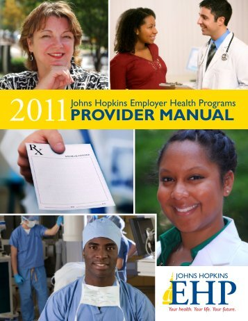 EHP Provider Manual - Greater Baltimore Medical Center