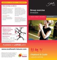 Elephant & Castle Leisure Centre - Fusion Lifestyle
