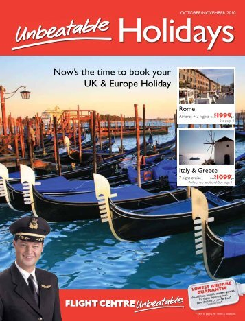 Now's the time to book your UK & Europe Holiday - Flight Centre NZ