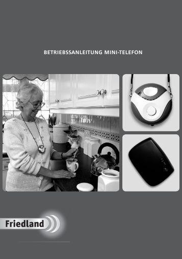 BETRIEBSSANLEITUNG MINI-TELEFON - Friedland