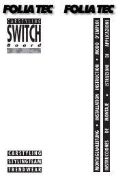 SWITCH - Foliatec