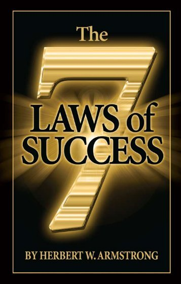 the Seven lawS of SucceSS - Friends of the Sabbath Australia