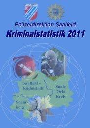 Polizeiliche Kriminalstatistik für das Jahr 2011 - Freistaat Thüringen