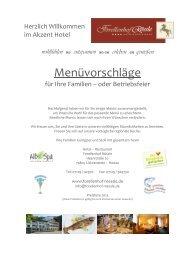 Unsere Menüvorschläge 2013 - Hotel Restaurant Forellenhof ...