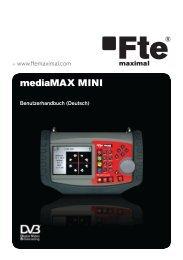 mediaMAX MINI - Fte Maximal 2 Allgemeine Empfehlungen für