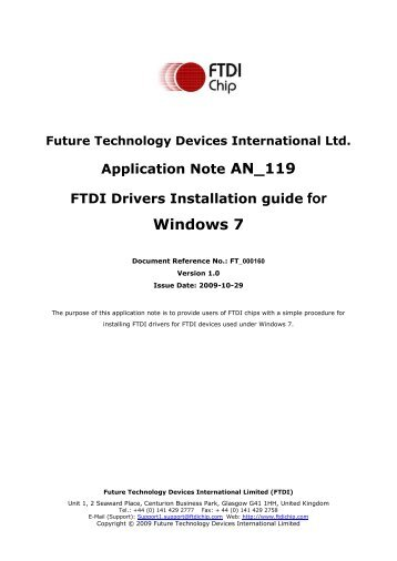 Submitting modified ftdi drivers for windows hardware certification.